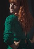 Ragazza con capelli rossi Immagini Stock