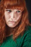 Ragazza con capelli rossi Immagine Stock