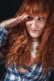 Ragazza con capelli rossi Fotografie Stock Libere da Diritti