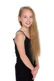 Ragazza con capelli scorrenti Fotografia Stock