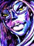 ragazza con gli occhi misteriosi Immagini Stock