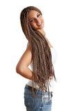 Ragazza con i capelli dei dreadlocks fotografie stock libere da diritti