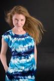 Ragazza con i capelli giusti Fotografia Stock Libera da Diritti