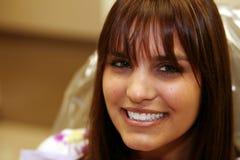 Ragazza con i denti perfetti Fotografia Stock