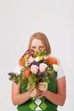 Ragazza con i fiori Immagine Stock Libera da Diritti