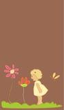 Ragazza con i fiori illustrazione di stock