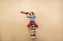 Ragazza con i libri Fotografia Stock Libera da Diritti