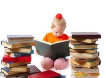 Ragazza con i libri immagini stock libere da diritti