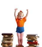 Ragazza con i libri fotografie stock libere da diritti