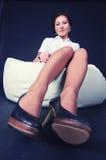 Ragazza con i piedini sexy. Fotografia Stock Libera da Diritti