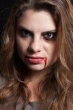 Ragazza con i segni della violenza Fotografia Stock