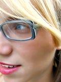 Ragazza con i vetri Fotografia Stock Libera da Diritti