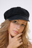 Ragazza con il cappello Immagine Stock