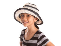 Ragazza con il cappello II di estate Fotografia Stock