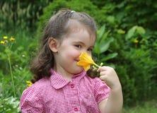 Ragazza con il fiore Immagine Stock Libera da Diritti