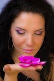 Ragazza con il fiore Fotografia Stock Libera da Diritti