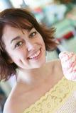 Ragazza con il gelato Fotografie Stock Libere da Diritti