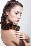 Ragazza con il hair-do creativo Fotografia Stock Libera da Diritti