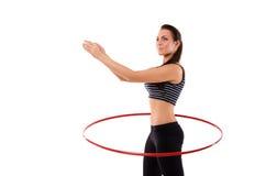 Ragazza con il hula-hoop Immagini Stock Libere da Diritti
