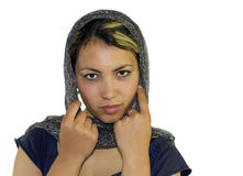Ragazza con il kerchief Fotografia Stock