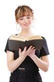 Ragazza con il libro Fotografia Stock Libera da Diritti