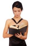 Ragazza con il libro Fotografia Stock