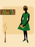 Ragazza con il libro royalty illustrazione gratis