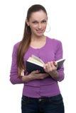 Ragazza con il libro Immagini Stock Libere da Diritti