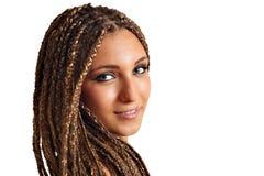 Ragazza con il ritratto dei capelli dei dreadlocks fotografia stock libera da diritti