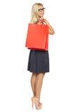 Ragazza con il sacchetto della spesa Fotografia Stock Libera da Diritti