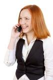 Ragazza con il telefono mobile Immagini Stock Libere da Diritti