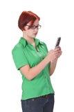 Ragazza con il telefono mobile Fotografia Stock Libera da Diritti