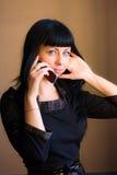 Ragazza con il telefono mobile Immagine Stock Libera da Diritti