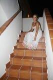 Ragazza con il vestito lungo Fotografia Stock Libera da Diritti