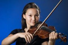 Ragazza con il violino Immagini Stock Libere da Diritti