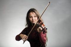 Ragazza con il violino Fotografia Stock