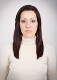 Ragazza con l'espressione in bianco Fotografia Stock