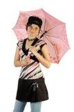 Ragazza con l'ombrello immagine stock