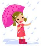 Ragazza con l'ombrello Fotografie Stock Libere da Diritti