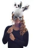 Ragazza con la maschera Immagine Stock