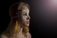 Ragazza con la maschera Immagine Stock Libera da Diritti