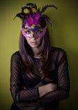 Ragazza con la mascherina carneval Fotografia Stock Libera da Diritti
