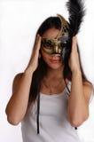 Ragazza con la mascherina veneziana Immagini Stock Libere da Diritti