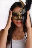Ragazza con la mascherina veneziana Immagini Stock
