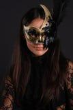 Ragazza con la mascherina veneziana Immagine Stock Libera da Diritti
