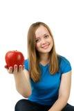 Ragazza con la mela Immagine Stock Libera da Diritti