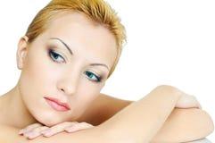 Ragazza con la pelle di bellezza fotografia stock