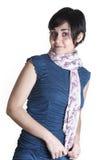 Ragazza con la sciarpa Fotografie Stock Libere da Diritti