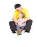 Ragazza con la sua madre grassa Fotografia Stock Libera da Diritti