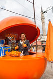 Ragazza con le arance. Fotografie Stock Libere da Diritti